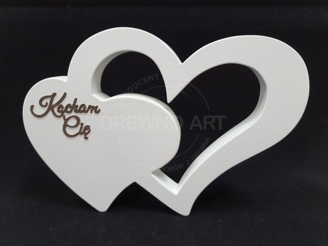 """Białe serce z napisem """"Kocham Cię"""""""