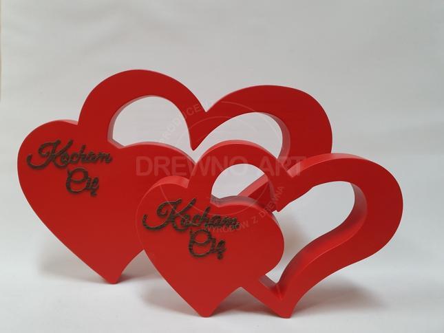 """Czerwone serca z napisem """"Kocham Cię"""""""