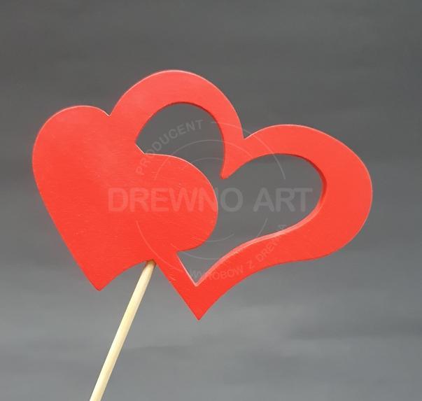 Czerwone serce na piku
