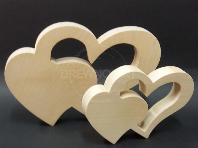Serca z surowego drewna