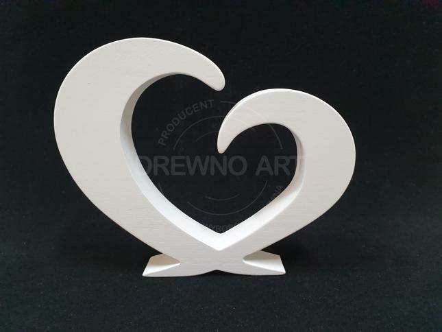 Białe serce z drewna