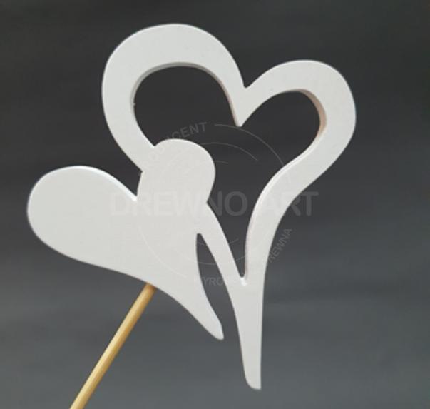 Białe serce na piku