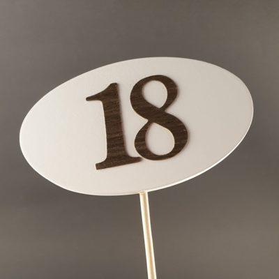 Tabliczka na piku z cyfrą 18