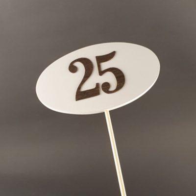 Tabliczka na piku z cyfrą 25