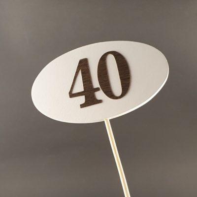 Tabliczka na piku z cyfrą 40
