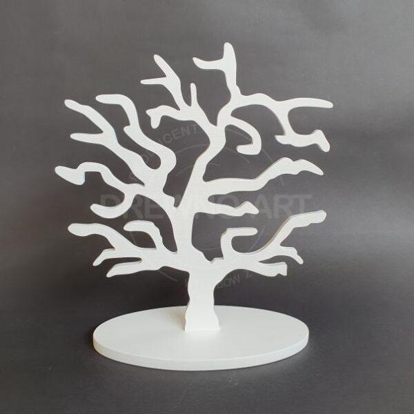 Drewniane drzewko na podstawie
